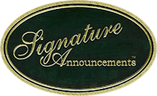 Signature Announcements Logo